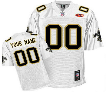 New Orleans Saints Customized White Jersey