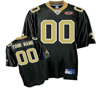 New Orleans Saints Customized Black Jersey