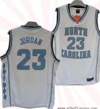 #23 North Carolina Tar Heels Michael Jordan Authentic White Jersey