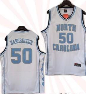 North Carolina Tar Heels #50 Tyler Hansbrough White College Jersey