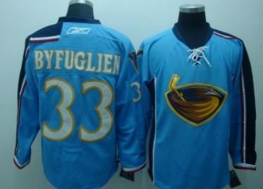 Atlanta Thrashers #33 Byfuglien Light Blue Jersey