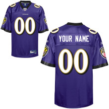 Reebok Baltimore Ravens Customized Premier Team Color Jersey