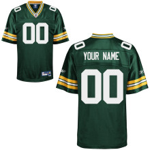 Reebok Green Bay Packers Customized Premier Team Color Jersey