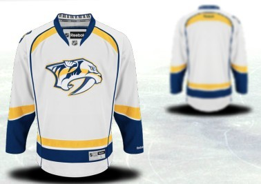 Nashville Predators Mens Customized 2012 White Jersey