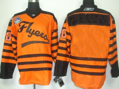 Philadelphia Flyers Mens Customized 2012 Orange Winter Classic Jersey