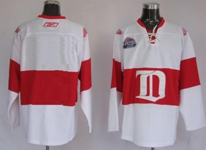 Detroit Red Wings Mens Customized White Winter Classic Jersey