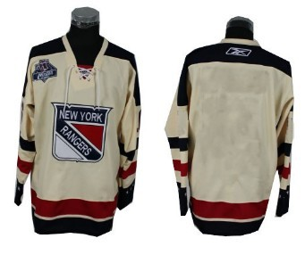 New York Rangers Mens Customized 2012 Winter Classci Cream Jersey