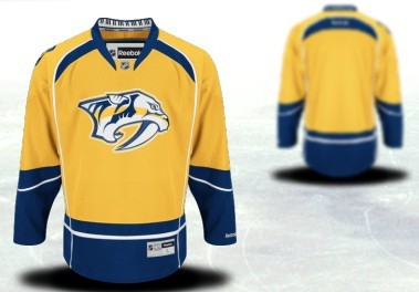 Nashville Predators Mens Customized 2012 Yellow Jersey