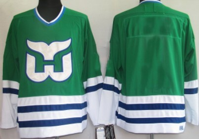Hartford Whalers Mens Customized Green Throwback Jersey