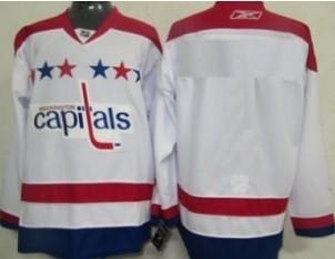 Washington Capitals Youths Customized 2011 White Winter Classic Jersey