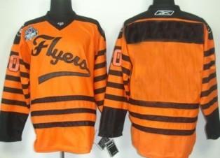 Philadelphia Flyers Youths Customized 2012 Orange Winter Classic Jersey