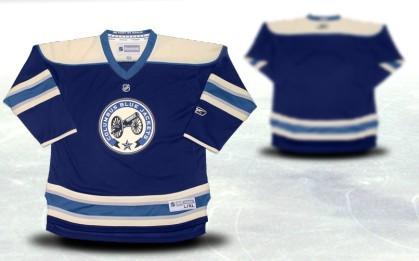 Columbus Blue Jackets Youths Customized Blue Third Jersey