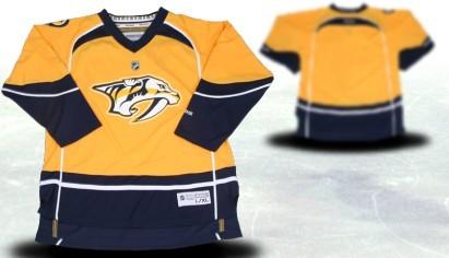 Nashville Predators Youths Customized 2012 Yellow Jersey