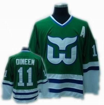 Hartford Whalers #11 DINEEN Green CCM Jersey