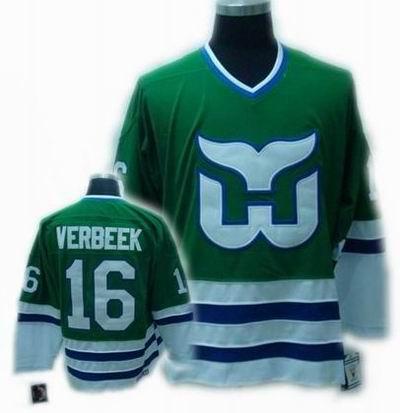 Hartford Whalers #16 VERBEEK Green CCM Jersey