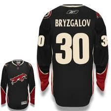 Phoenix Coyotes #30 BRYZGALOV Black Jersey