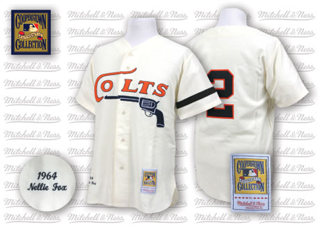 Houston Colts #2 Nellie Fox Cream Thorbwack Jersey