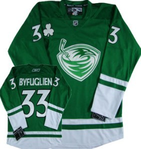 Atlanta Thrashers #33 Byfuglien Green Jersey
