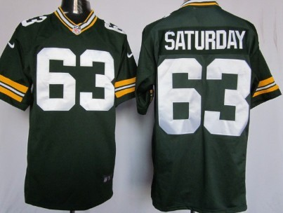 Nike Green Bay Packers #63 Jeff Saturday Green Game Jersey