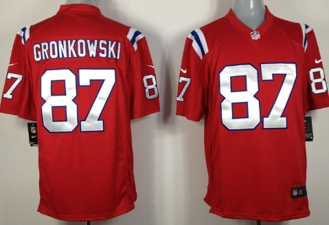Nike New England Patriots #87 Rob Gronkowski Red Game Jersey