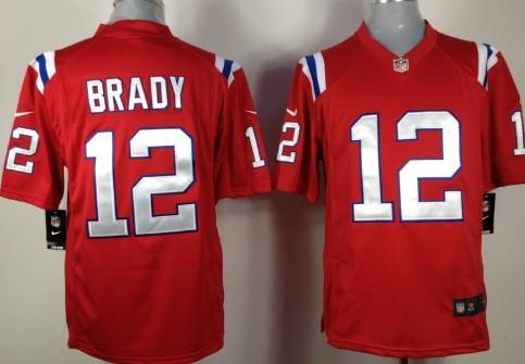 Nike New England Patriots #12 Tom Brady Red Game Jersey
