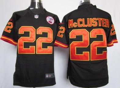 Nike Kansas City Chiefs #22 Dexter McCluster Black Game Jersey