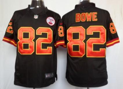 Nike Kansas City Chiefs #82 Dwayne Bowe Black Game Jersey