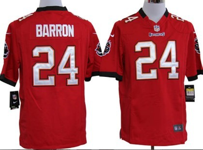 Nike Tampa Bay Buccaneers #24 Mark Barron Red Game Jersey
