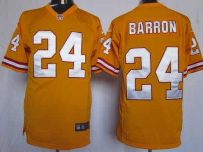 Nike Tampa Bay Buccaneers #24 Mark Barron Orange Game Jersey