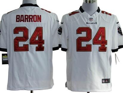 Nike Tampa Bay Buccaneers #24 Mark Barron White Game Jersey