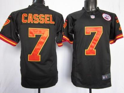 Nike Kansas City Chiefs #7 Matt Cassel Black Game Jersey