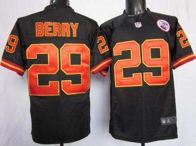 Nike Kansas City Chiefs #29 Eric Berry Black Game Jersey