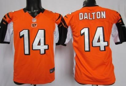 Nike Cincinnati Bengals #14 Andy Dalton Orange Game Kids Jersey