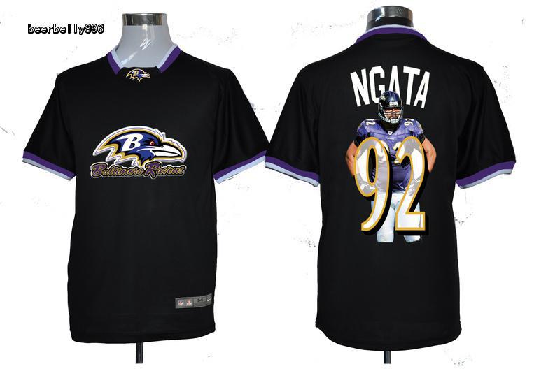 Nike NFL Baltimore Ravens Team All-Star Fashion #92 Ngata Black Jerseys