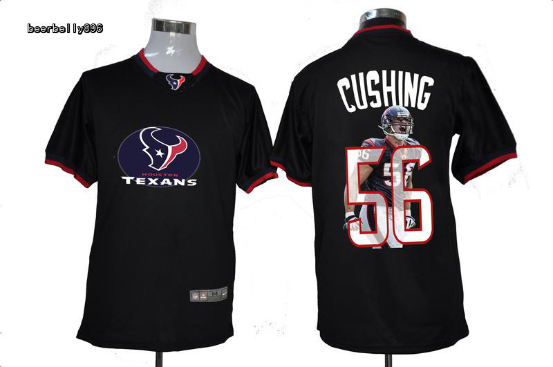 Nike NFL Houston Texans Team All-Star Fashion #56 CushingBlack Jerseys
