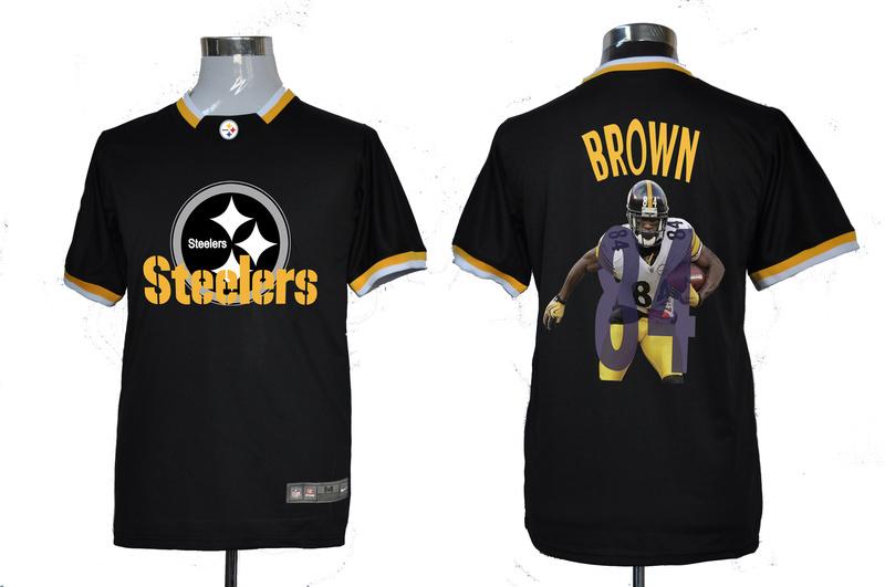 Nike NFL Pittsburgh Steelers #84 Brown Black All-Star Fashion Jerseys