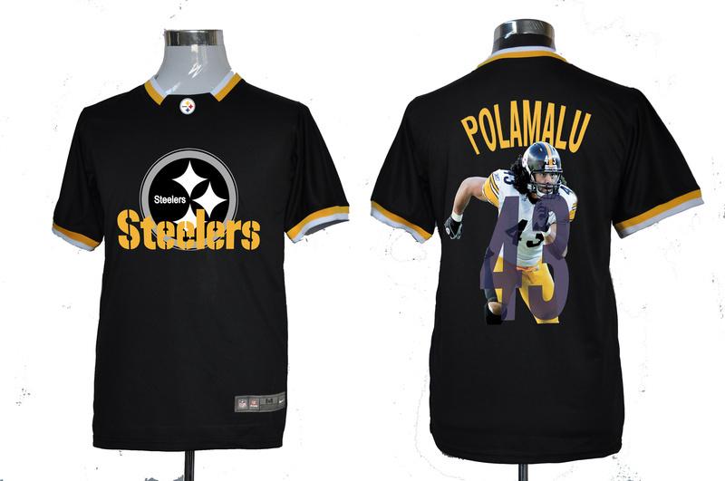 Nike NFL Pittsburgh Steelers #43 Polamalu Black All-Star Fashion Jerseys