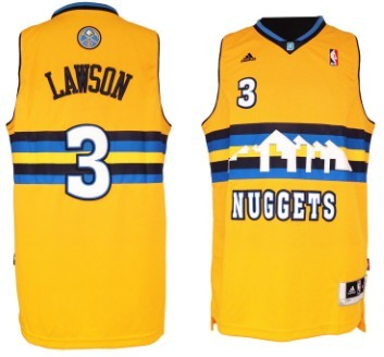 Denver Nuggets #3 Ty Lawson Revolution 30 Swingman Yellow Jersey