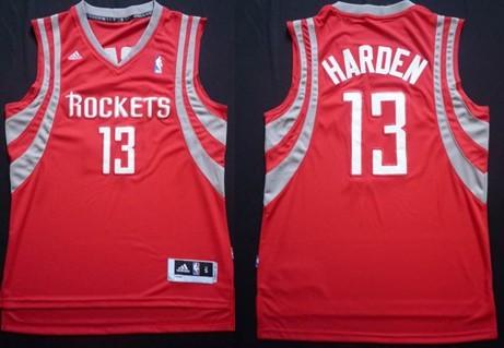 Houston Rockets #13 James Harden Revolution 30 Swingman Red Jersey