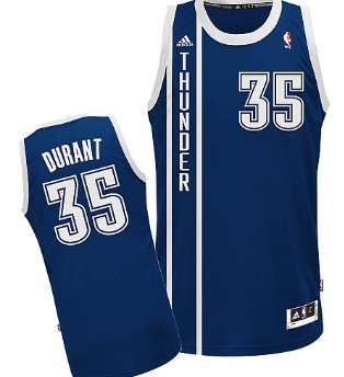 Oklahoma City Thunder #5 Kevin Durant Revolution 30 Swingman 2013 Blue Jersey