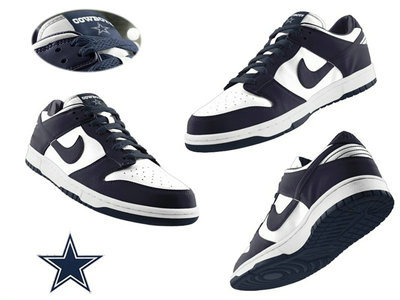 Nike Dallas Cowboys White Nfl Dunk Shoes
