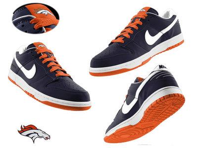 Nike Denver Broncos Blue Nfl Dunk Shoes