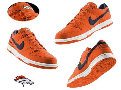 Nike Denver Broncos Orange Nfl Dunk Shoes