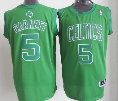 Boston Celtics #5 Kevin Garnett Revolution 30 Swingman Green Big Color Jersey
