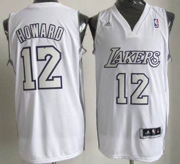 Los Angeles Lakers #12 Dwight Howard Revolution 30 Swingman White Big ColorJersey