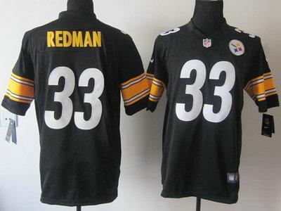 Nike Pittsburgh Steelers 33 Isaac Redman Black Game Jersey