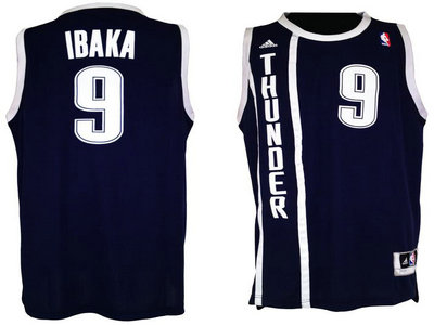 Oklahoma City Thunder 9 Serge Ibaka Blue Revolution 30 Swingman NBA Jerseys