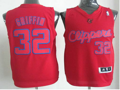 Los Angeles Clippers 32 Blake Griffin Red Revolution 30 Swingman Christmas Style Jerseys