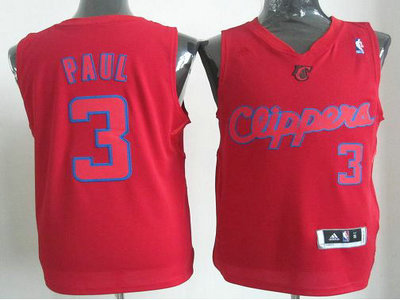 Los Angeles Clippers 3 Chris Paul Red Revolution 30 Swingman Christmas Style Jerseys
