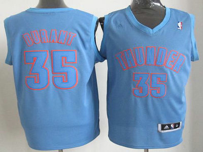 Oklahoma City Thunder 35 Kevin Durant Blue Revolution 30 Swingman Christmas Style Jerseys